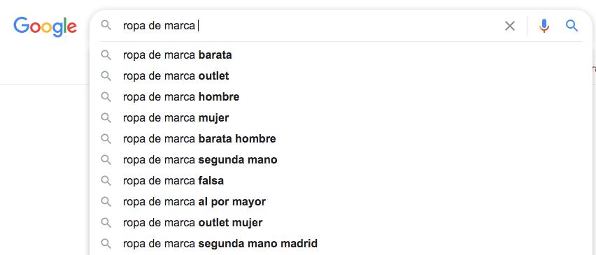 búsquedas recurrentes